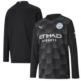 Manchester City Home Goalkeeper Shirt 2020-21 - Long Sleeve - Kids