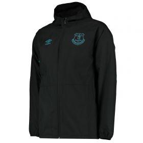Everton Training Shower Jacket - Black