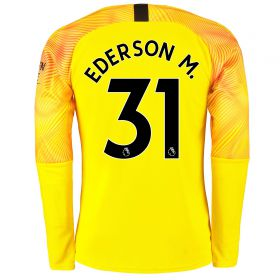 Manchester City Third Goalkeeper Shirt 2019-20 with Ederson M. 31 printing