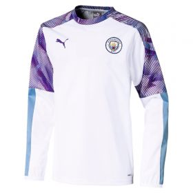 Manchester City Training Rain Top - White - Kids