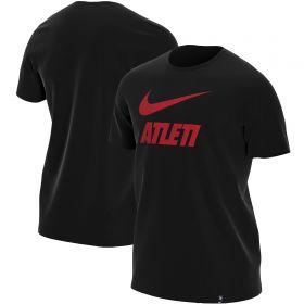 Atlético de Madrid Printed T-Shirt - Black