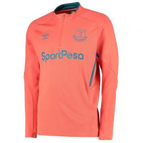 Everton Training Half Zip Sweatshirt - Coral