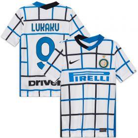 Inter Milan Away Stadium Shirt 2020-21 - Kids with Lukaku 9 printing