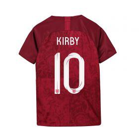 England Away Stadium Shirt 2019-20 - Kids with Kirby 10 printing