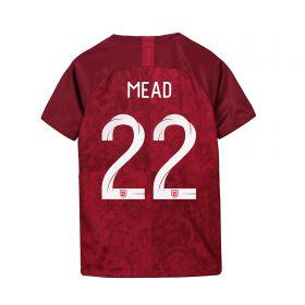 England Away Stadium Shirt 2019-20 - Kids with Mead 22 printing