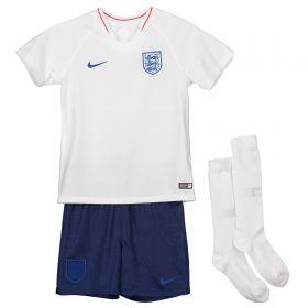 England Home Stadium Kit 2018 - Little Kids with Vardy 11 printing