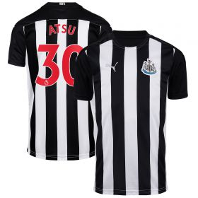 Newcastle United Home Shirt 2020-21 - Kids with Atsu 30 printing