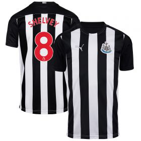 Newcastle United Home Shirt 2020-21 - Kids with Shelvey 8 printing
