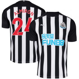 Newcastle United Home Shirt 2020-21 with Almirón 24 printing