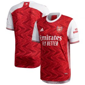 Arsenal Authentic Home Shirt 2020-21 with Aubameyang 14 printing