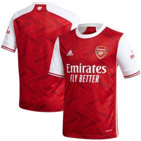 Arsenal Home Shirt 2020-21 - Kids with Aubameyang 14 printing