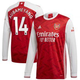 Arsenal Home Shirt 2020-21 - Long Sleeve with Aubameyang 14 printing
