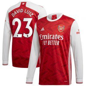 Arsenal Home Shirt 2020-21 - Long Sleeve with David Luiz 23 printing