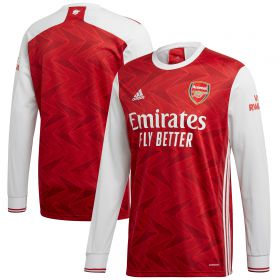 Arsenal Home Shirt 2020-21 - Long Sleeve with Lacazette 9 printing