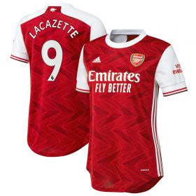 Arsenal Home Shirt 2020-21 - Womens with Lacazette 9 printing