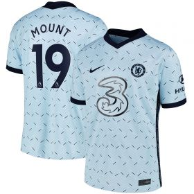 Chelsea Away Stadium Shirt 2020-21 - Kids with Mount 19 printing
