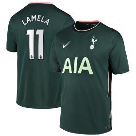Tottenham Hotspur Away Stadium Shirt 2020-21 - Kids with Lamela 11 printing