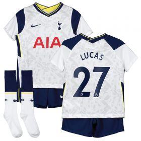Tottenham Hotspur Home Stadium Kit 2020-21 - Little Kids with Lucas 27 printing