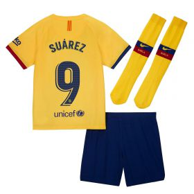 Barcelona Away Stadium Kit 2019-20 - Little Kids with Suárez 9 printing