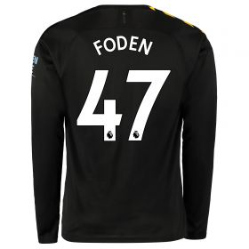 Manchester City Away Shirt 2019-20 - Long Sleeve with Foden 47 printing