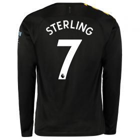 Manchester City Away Shirt 2019-20 - Long Sleeve with Sterling 7 printing