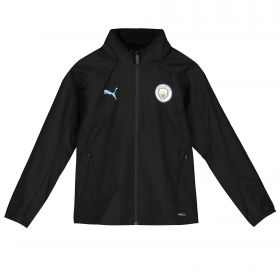 Manchester City Training Rain Jacket - Black - Kids