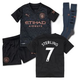 Manchester City Away Minikit 2020-21 with Sterling 7 printing