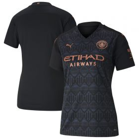 Manchester City Away Shirt 2020-21 - Womens with De Bruyne 17 printing