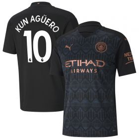 Manchester City Away Shirt 2020-21 with Kun Agüero 10 printing