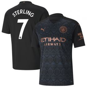 Manchester City Away Shirt 2020-21 with Sterling 7 printing