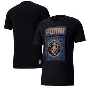 Manchester City ftblCore Graphic T-Shirt - Black