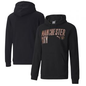 Manchester City ftblCore Wording Hoodie - Black