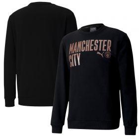Manchester City ftblCore Wording Sweat Top - Black