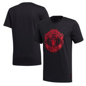 Manchester United DNA Graphic T-Shirt - Black