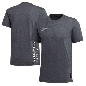 Manchester United STR Graphic T-Shirt - Dark Grey