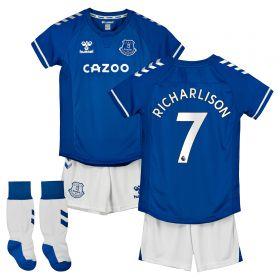 Everton Home Infants Kit 2020-21 with Richarlison 7 printing
