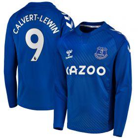 Everton Home Shirt 2020-21 - Long Sleeve - Kids with Calvert-Lewin 9 printing