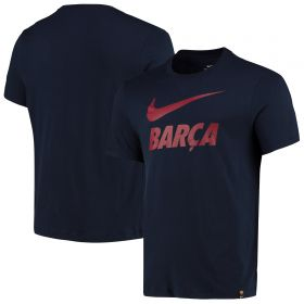 Barcelona Printed T-Shirt - Navy