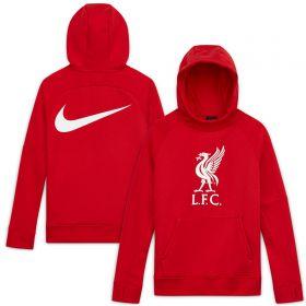 Liverpool Crest Hoodie - Red - Kids