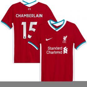 Liverpool Home Stadium Shirt 2020-21 - Kids with Chamberlain 15 printing