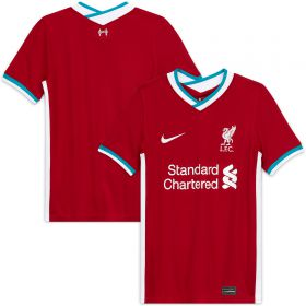 Liverpool Home Stadium Shirt 2020-21 - Kids with Milner 7 printing