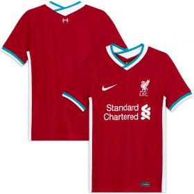 Liverpool Home Stadium Shirt 2020-21 - Kids with Minamino 18 printing