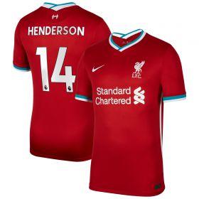 Liverpool Home Stadium Shirt 2020-21 with Henderson 14 printing