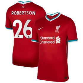 Liverpool Home Stadium Shirt 2020-21 with Robertson 26 printing