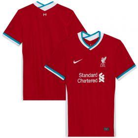 Liverpool Home Stadium Shirt 2020-21- Womens with Minamino 18 printing