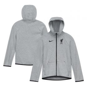Liverpool Tech Fleece Hoodie - Dark Grey - Kids
