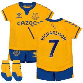 Everton Away Baby Kit 2020-21 with Richarlison 7 printing