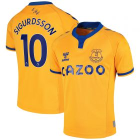 Everton Away Shirt 2020-21 - Kids with Sigurdsson 10 printing