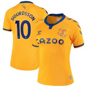 Everton Away Shirt 2020-21 - Womens with Sigurdsson 10 printing