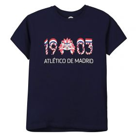Atlético de Madrid 1903 Printed T-Shirt Navy - Boys